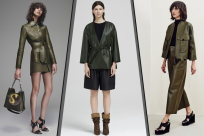 RESORT 2016: Green Leather