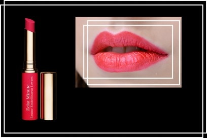 Rossetti rosso fragola: Rossetto lucidalabbra Eclat Minute Baume Embelliseuri Levres in 05 Red di Clarins
