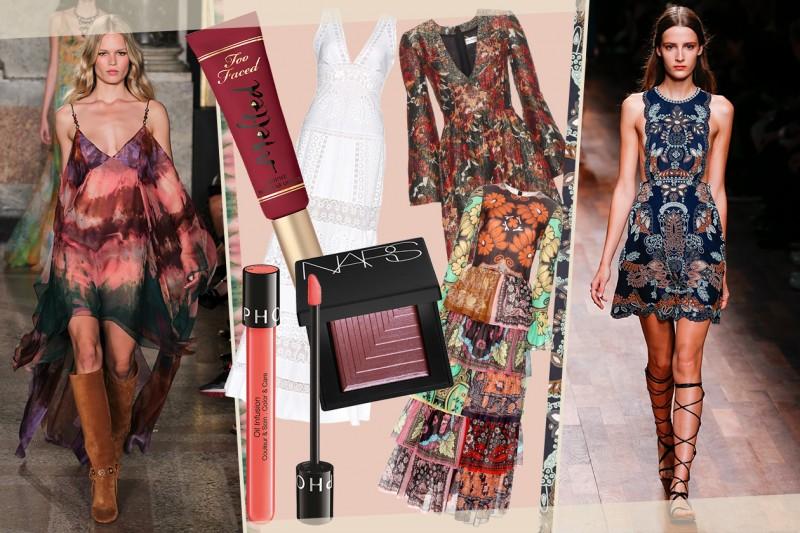 Stile Gipsy: gli abiti abbinati al trucco