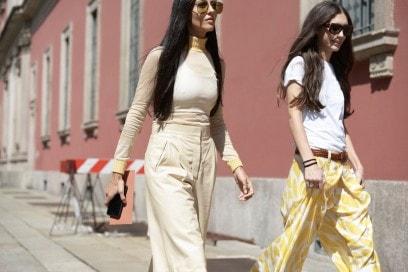 Tendenze capelli dallo street style a Milano: lunghezze wild
