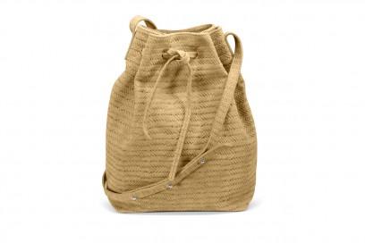 accessori naturali: borsa a secchiello di Castañer
