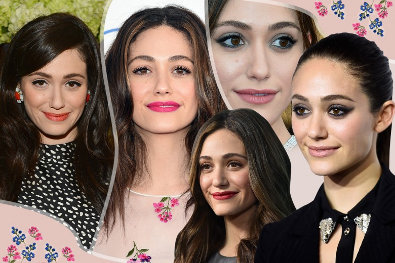 Emmy Rossum beauty style: dal trucco nude al rossetto rosso