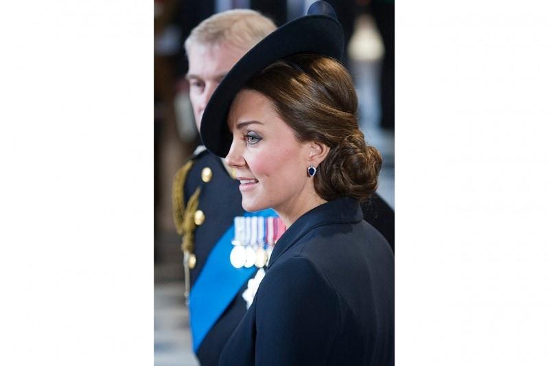 Kate Middleton capelli: chignon elaborato