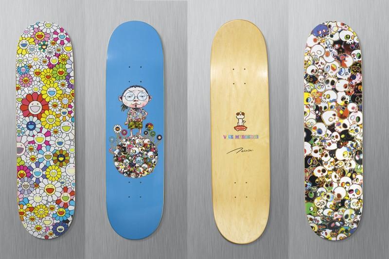 murakami skate deck flowers
