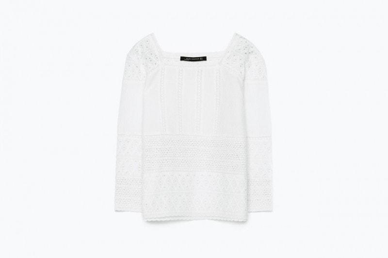 Top in cotone sangallo: Zara