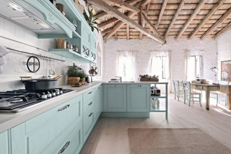 La cucina d\'estate è country e azzurra - Grazia.it