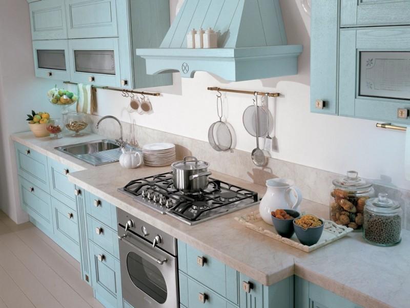 La cucina d estate country e azzurra for Cucina azzurra