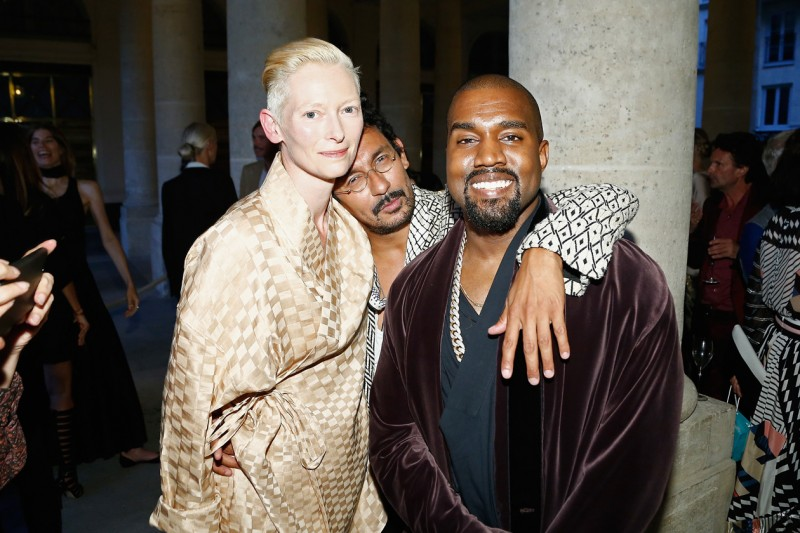 A16a Tilda Swinton & Haider Ackermann & Kanye West