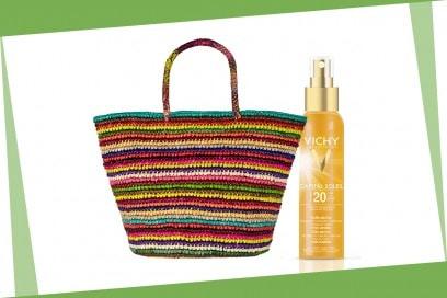 Beauty bag da spiaggia: Vichy