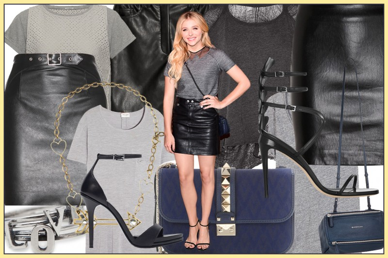 GET THE LOOK: IN GONNA DI PELLE COME CHLOE GRACE MORETZ