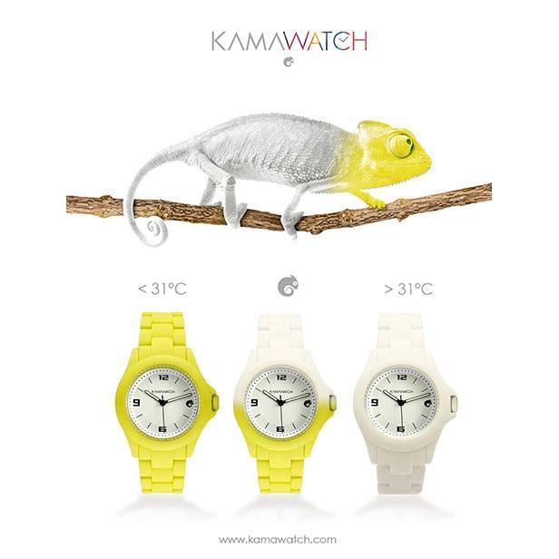 Kamawatch: gli orologi che cambiano colore