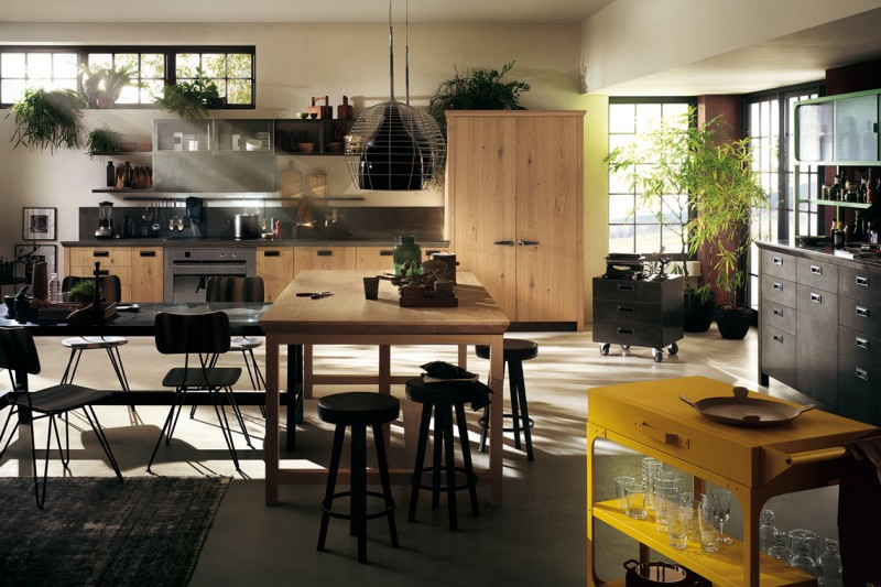 Stile industriale le cucine pi belle for Disegnare stanza online