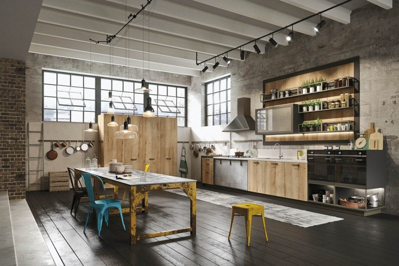 stile industriale: le cucine più belle - grazia.it - Cucine Loft