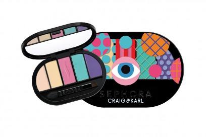 PALETTE DI OMBRETTI ESTATE 2015: Sephora Craig & Karl Colorful 5 Eyeshadow Palette Pastel to Pop
