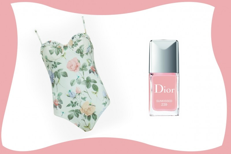SWIMSUIT & MATCHY NAILS: Ted Baker + Dior