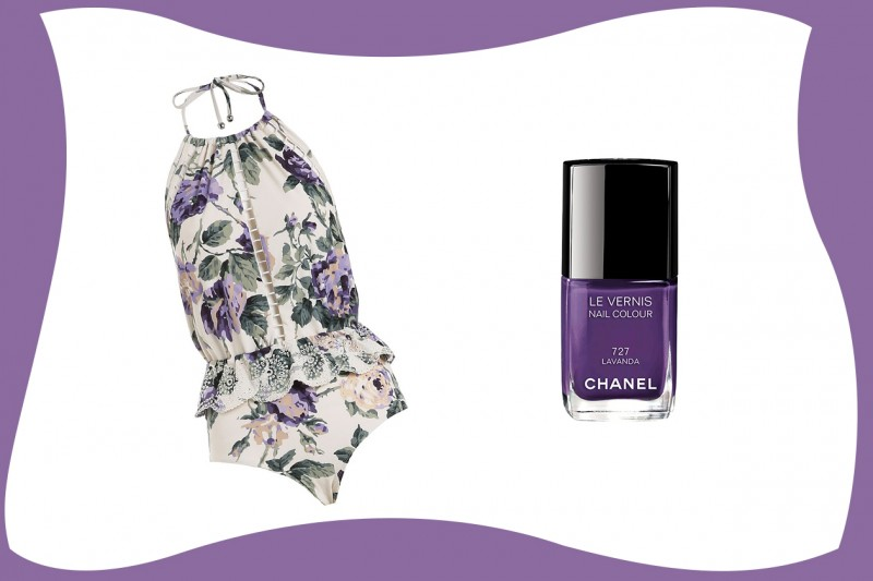 SWIMSUIT & MATCHY NAILS: Zimmermann + Chanel