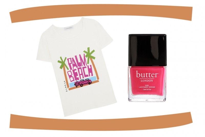 Smalti e T-Shirt abbinati: Butter London