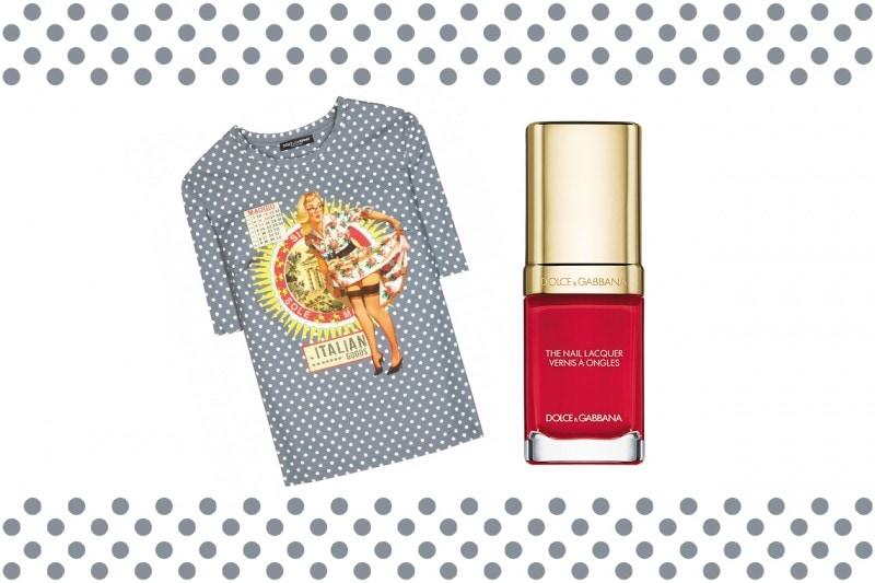 Smalti e T-Shirt abbinati: Dolce & Gabbana