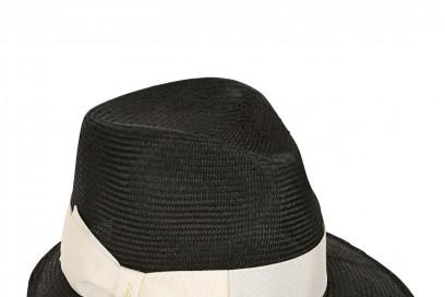 borsalino cappello in paglia nero