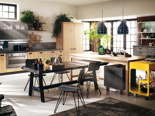 cucine-stile-industriale-mattoni.png (633×609) | Home ~ kitchen ...