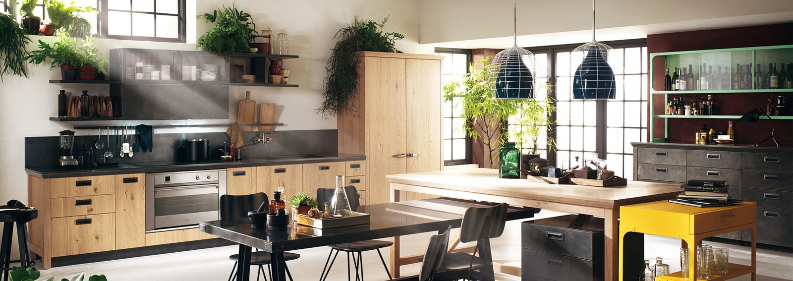 Stile industriale le cucine pi belle for Cucina italiana mobili