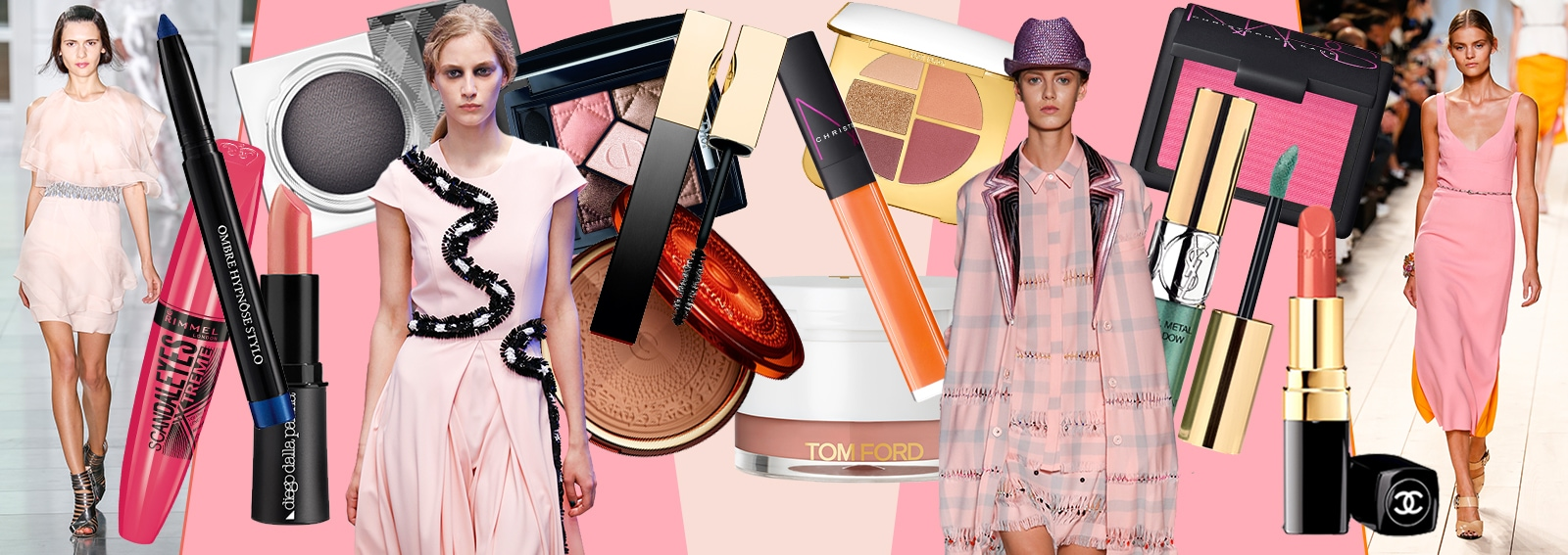 cover wide abiti rosa e make up