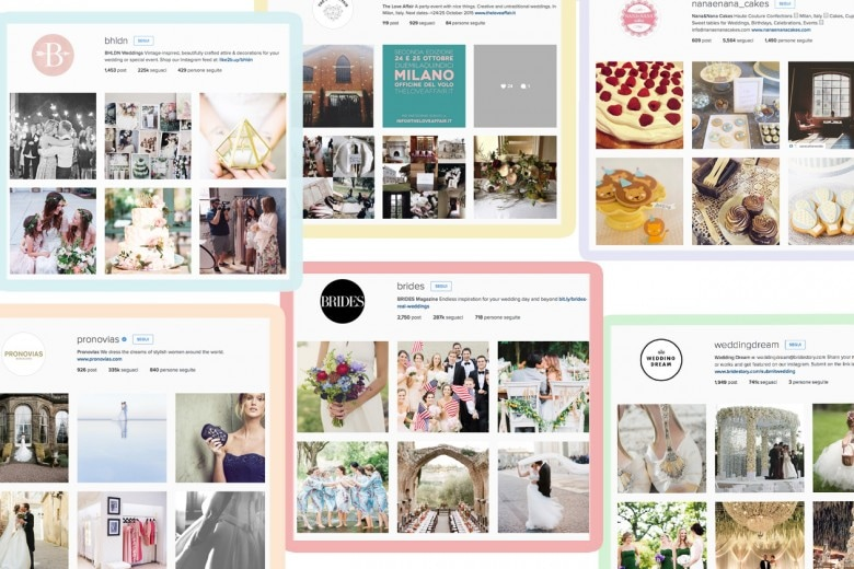 10 profili Instagram dedicati al mondo Wedding