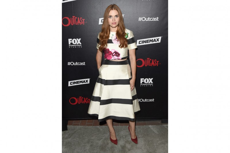 le star e i loro look a righe: holland roden