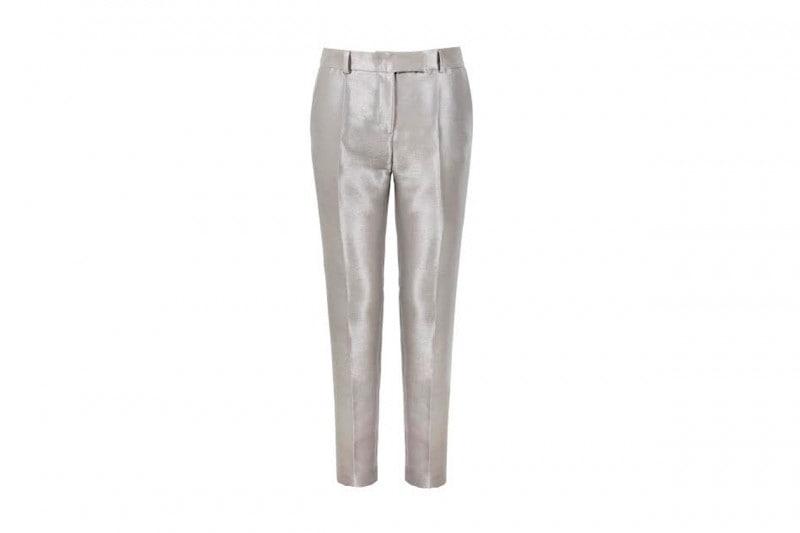 Pantaloni metal effetto silver: Daks