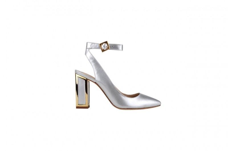 Sandalo metal con tacco squadrato: Kat Maconie