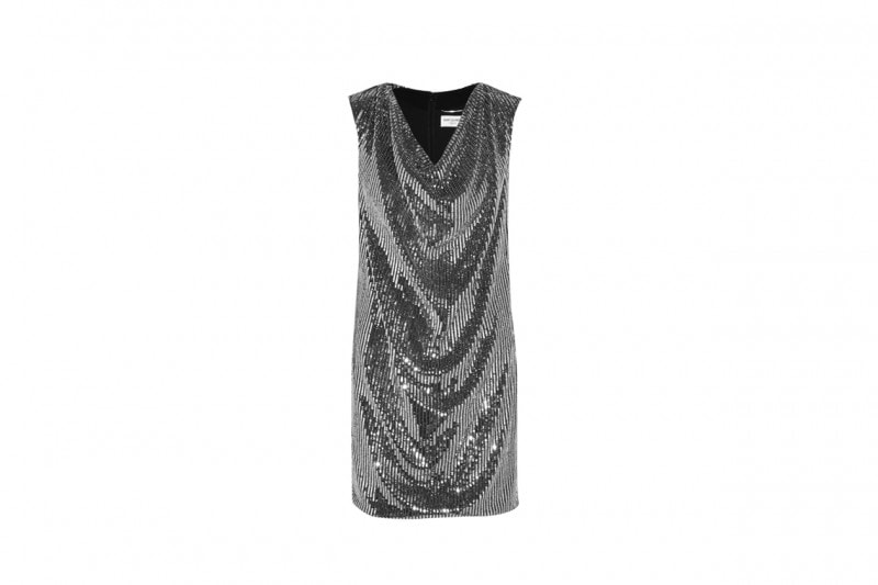 Abito in paillettes metal: Saint Laurent