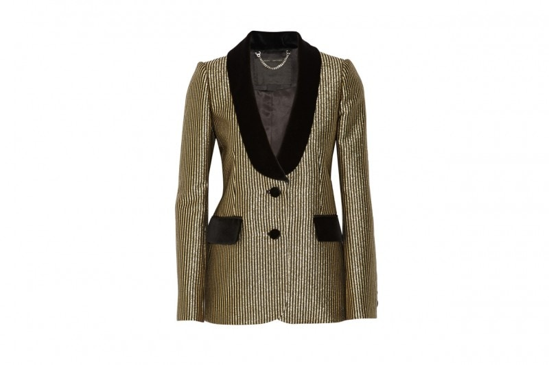 Blazer metal con revers a scialle: Marc Jacobs