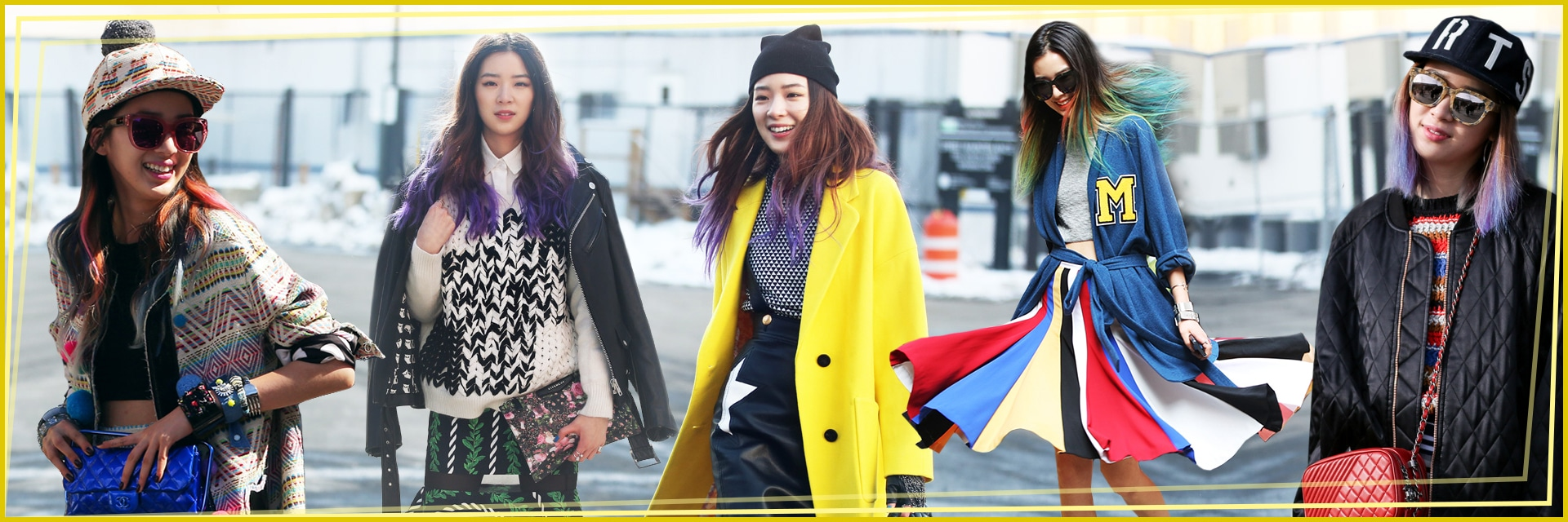 Irene Kim: i look della modella dai capelli arcobaleno