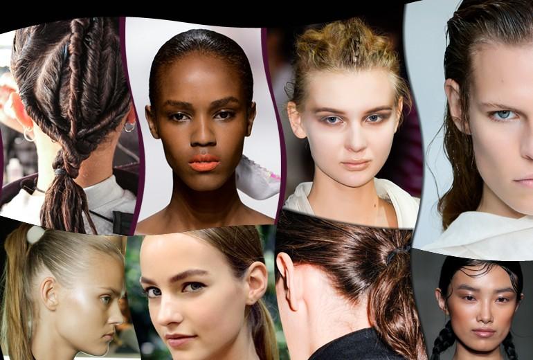 Acconciature ed hairstyle per capelli bagnati ispirati alle sfilate