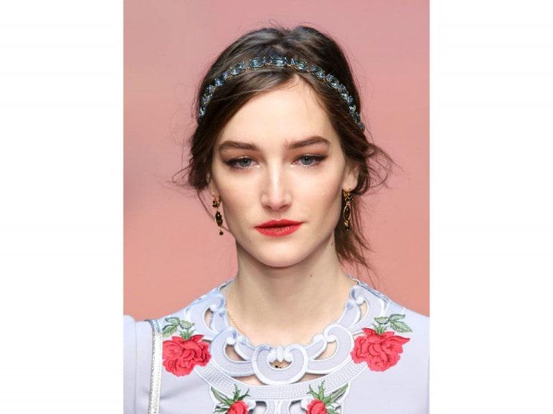 Dolce&Gabbana capelli raccolti