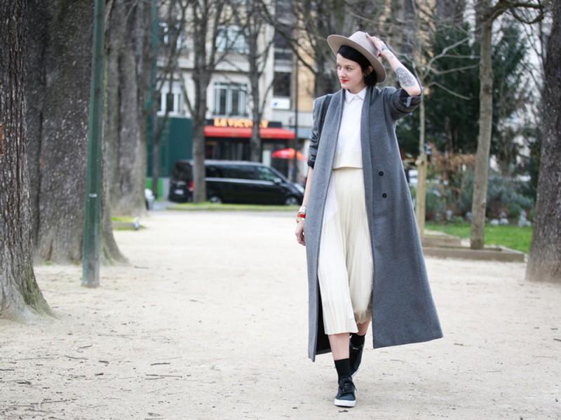 Street-Style-cappotto-grigio-e-cappello