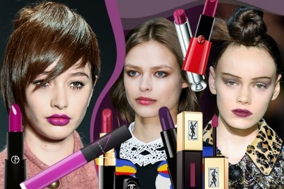 Labbra viola: la tendenza colore si tinge di purple