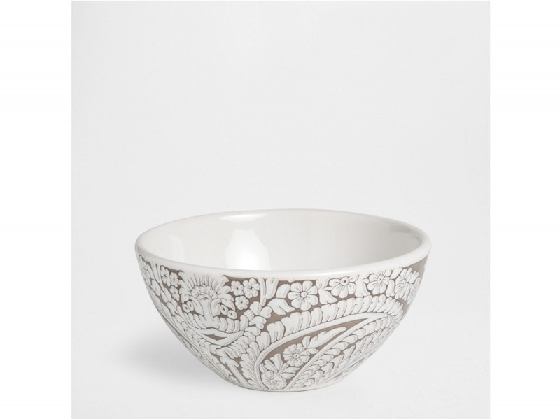 Bowl in maiolica paisley