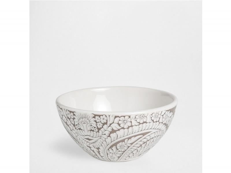 Bowl in maiolica paisley