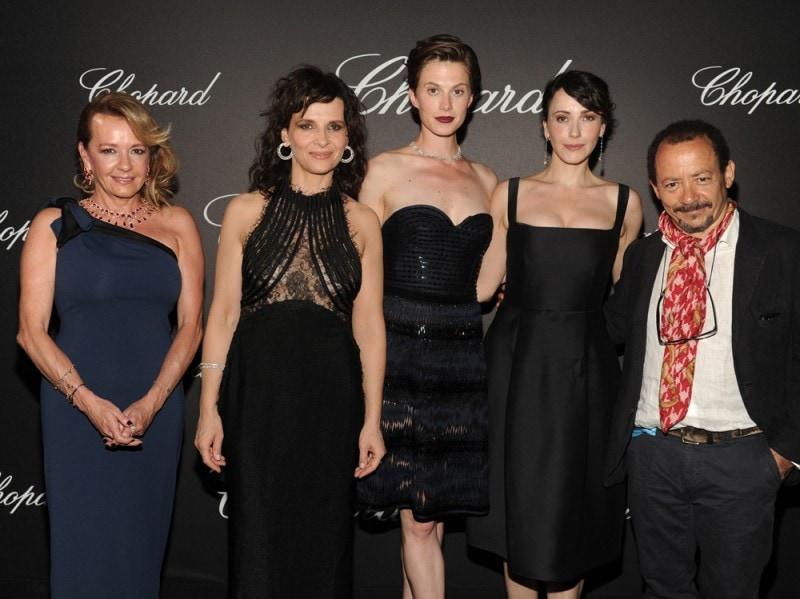 Caroline-Scheufele;Juliette-Binoche-wearing-Chopard;Elettra-Wiedemann-wearing-Chopard;Anita-Caprioli-wearing-Chopard;Alessandro-Rossellini