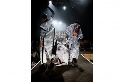 I bellerini durante la performance