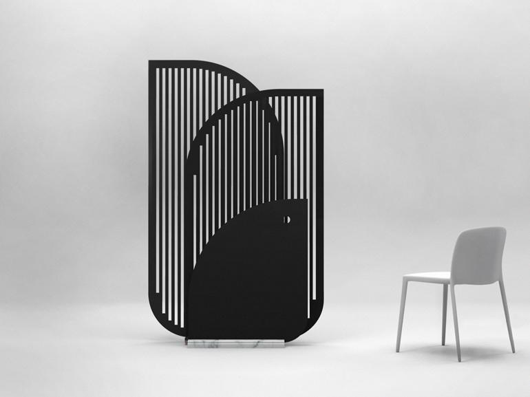 Il paravento progettato da Gilles Neveu, uno dei sei Talents Ö la Carte