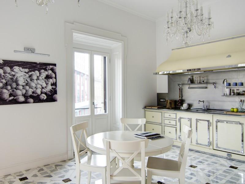 Il pavimento della cucina