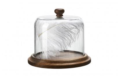 La cupola porta oggetti in vetro