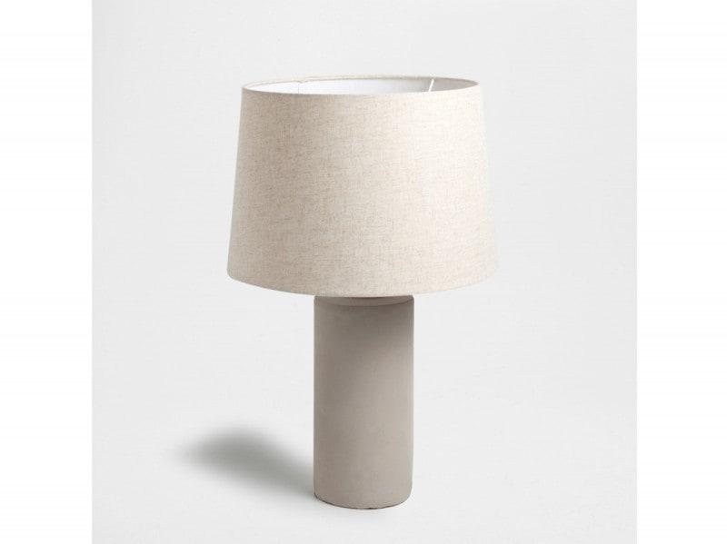 Lampada a cilindro in cemento