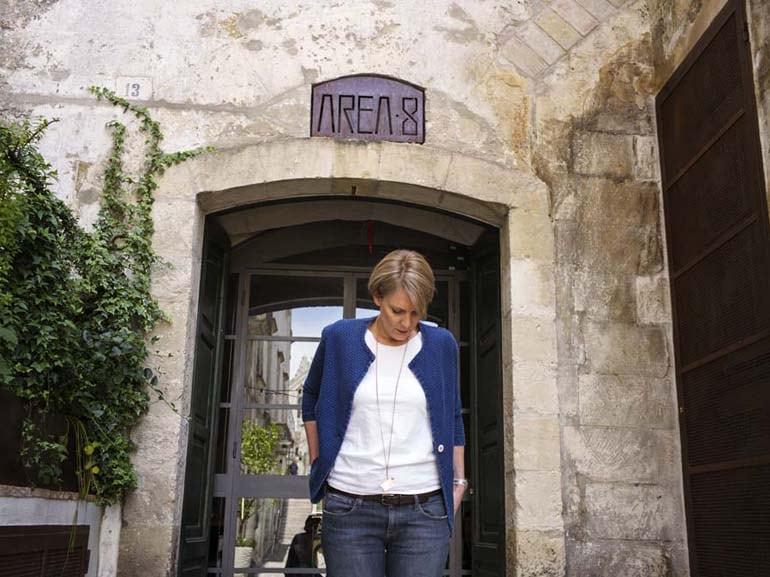 Mikaela at the Entrance