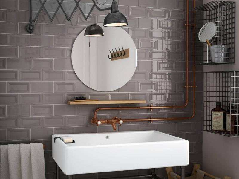 Rivestimenti per il bagno 10 idee decor da copiare - Piastrelle bagno rettangolari ...
