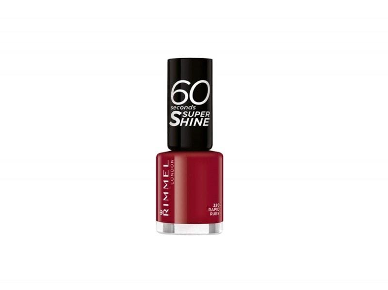 Rimmel Unghie 60 Seconds Super Shine in 320 Rapid Ruby
