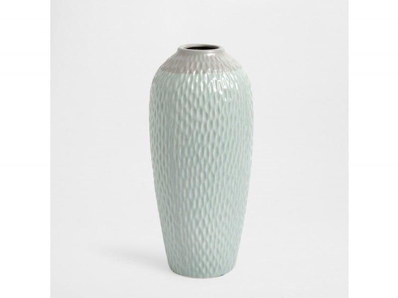 Vaso in ceramica blu