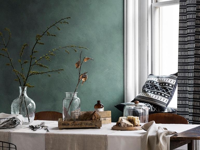 Verde bottiglia con H&M Home